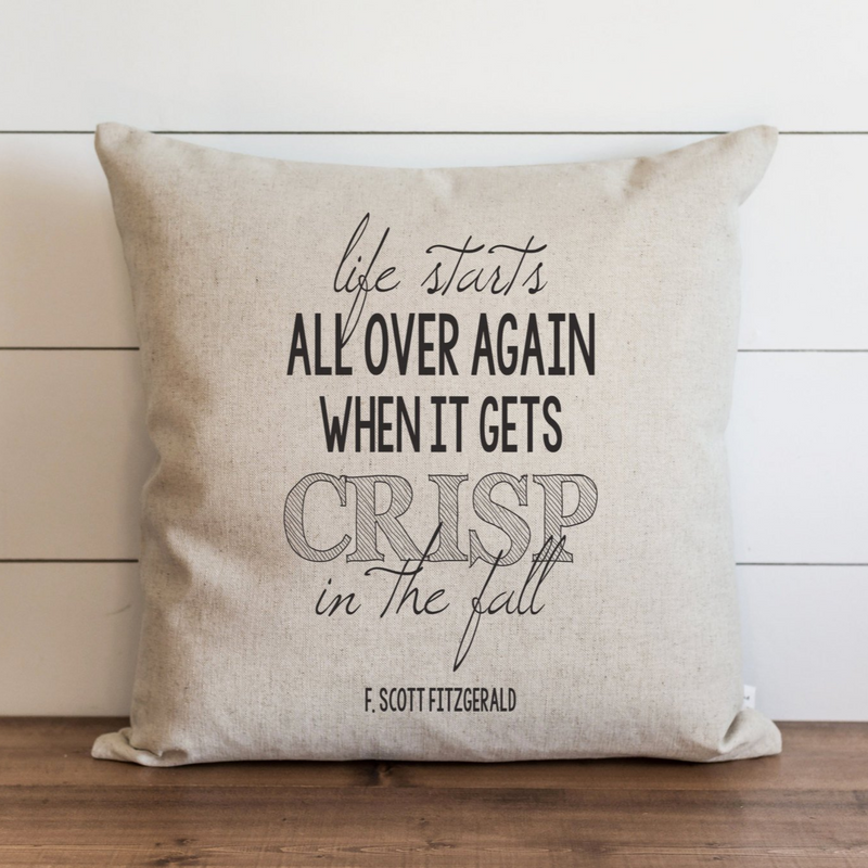 Life Starts All Over Again Pillow Cover. - Porter Lane Home