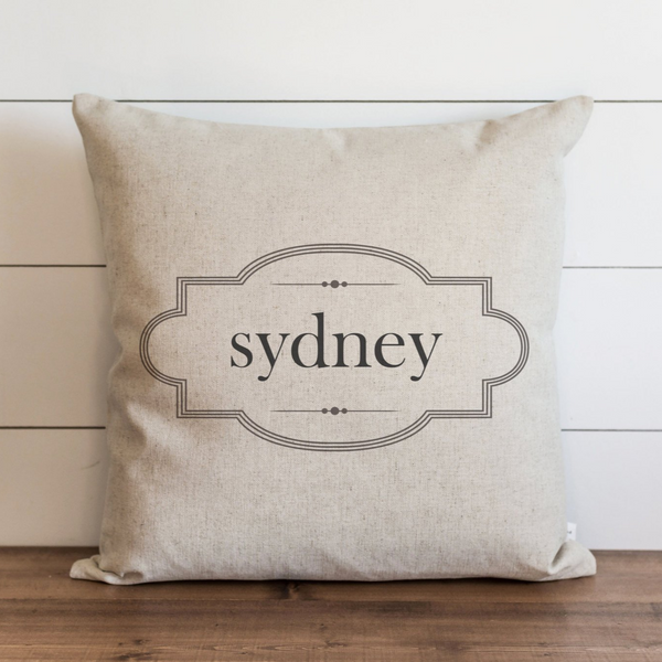 Framed Name Pillow Cover. - Porter Lane Home
