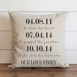 Our Love Story Pillow Cover. - Porter Lane Home