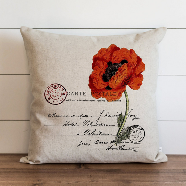 Poppy Pillow Cover. - Porter Lane Home