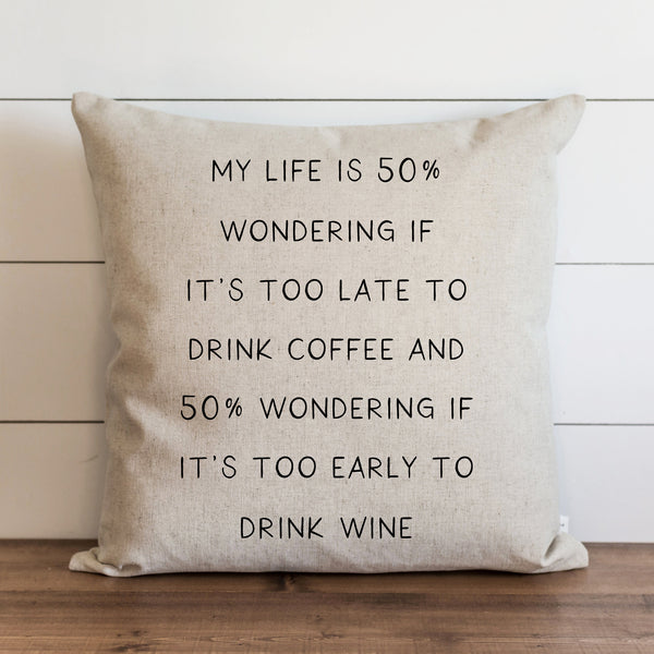 50 Percent Pillow Cover. - Porter Lane Home