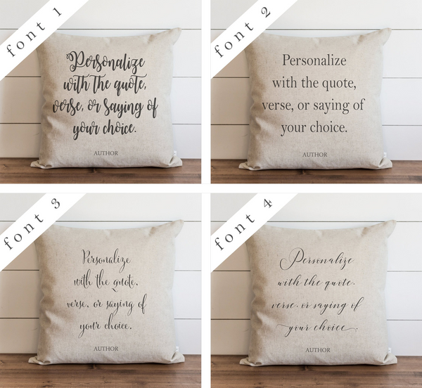 Personalized Quote Pillow Cover. - Porter Lane Home