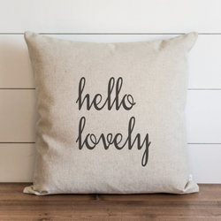 Hello Lovely Pillow Cover. - Porter Lane Home