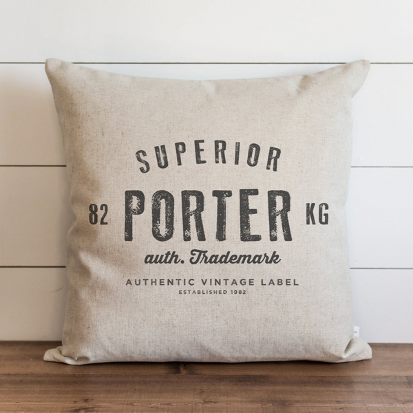 Vintage Collection_Custom Name Pillow Cover. - Porter Lane Home