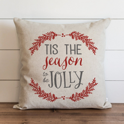 Tis The Seaon To Be Jolly Pillow Cover.