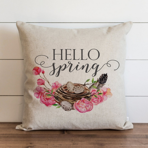 Hello Spring Pillow Cover. - Porter Lane Home