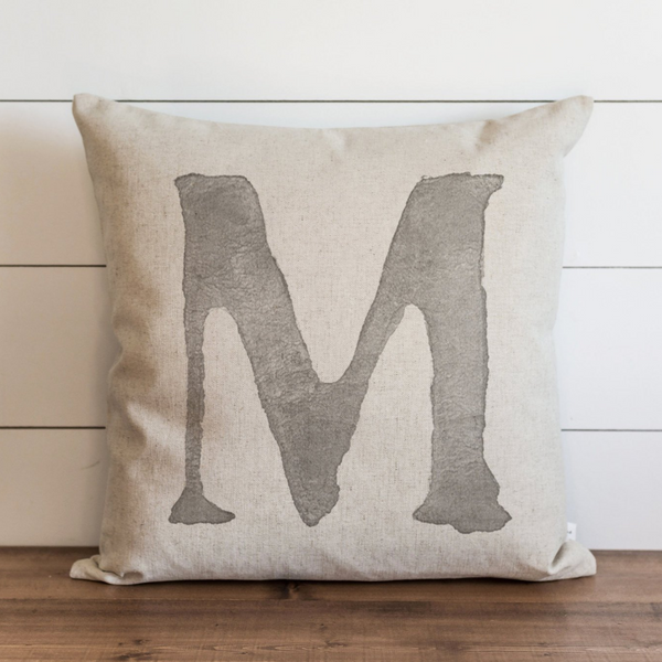 Watercolor Typography Pillow Cover.