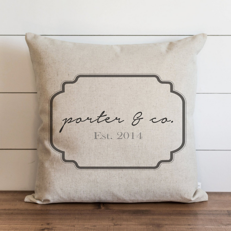 Custom_Last Name & Co. Pillow Cover. - Porter Lane Home