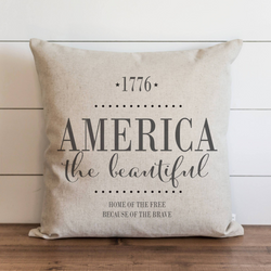 America the Beautiful Pillow Cover. - Porter Lane Home