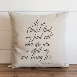 It's In Christ Pillow Cover. - Porter Lane Home