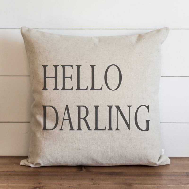 Hello Darling_CAPS Pillow Cover. - Porter Lane Home