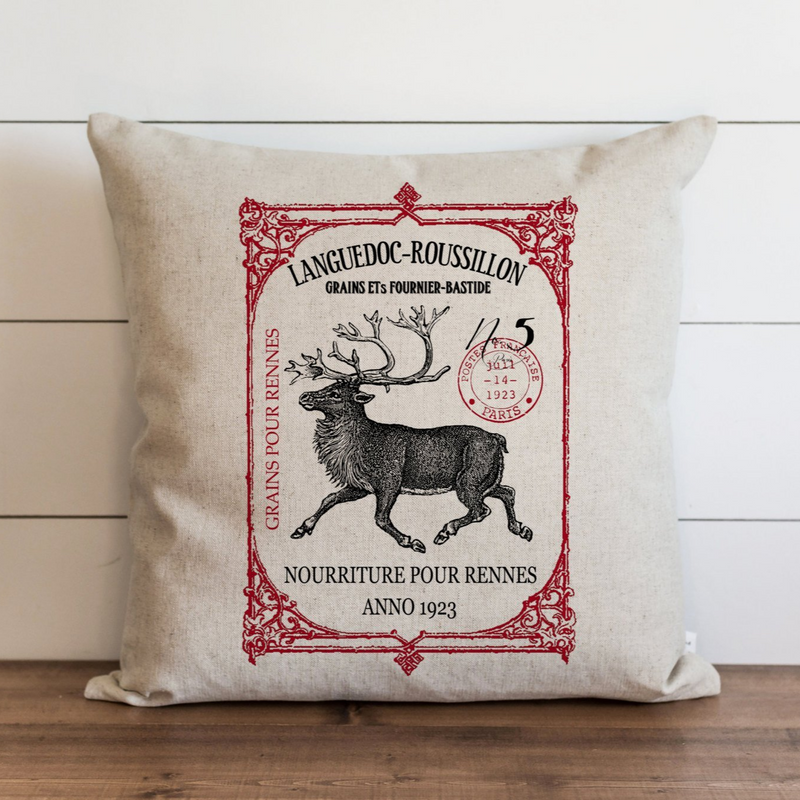 Framed Reindeer Pillow Cover. - Porter Lane Home