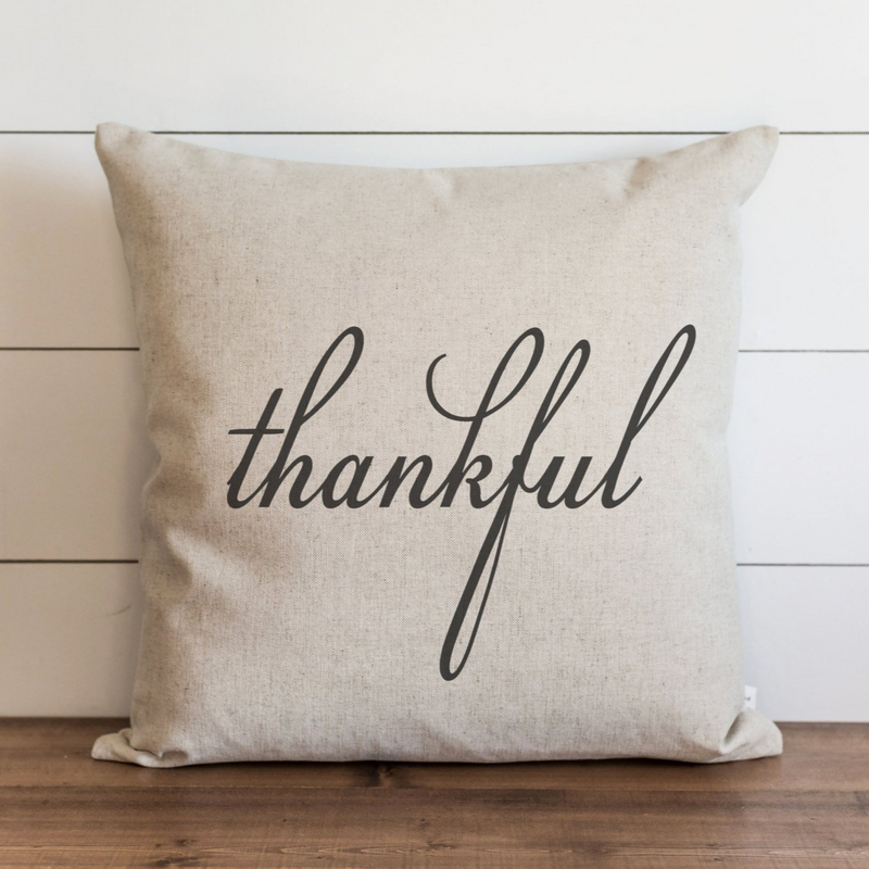 Thankful Pillow Cover.