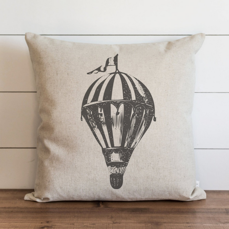 Hot Air Balloon Pillow Cover. - Porter Lane Home
