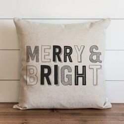 Merry & Bright Pillow Cover. - Porter Lane Home