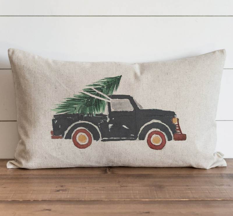 Slate Truck Pillow Cover - Porter Lane Home