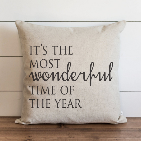 It's The Most Wonderful Time Of The Year Pillow Cover. - Porter Lane Home