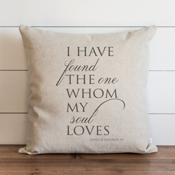 I Have Found The One Whom My Soul Loves Pillow Cover. - Porter Lane Home