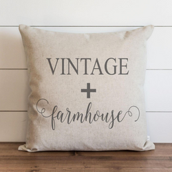 Vintage + Farmhouse Pillow Cover.