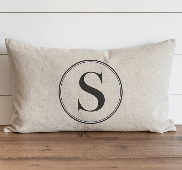 Round Monogram Pillow Cover - Porter Lane Home