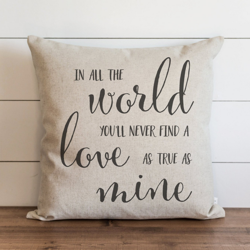 In All The World Pillow Cover. - Porter Lane Home