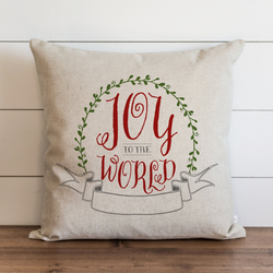 Joy To The World_Color Pillow Cover. - Porter Lane Home