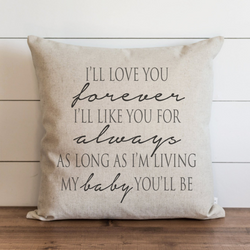 Love You Forever_Baby Pillow Cover. - Porter Lane Home