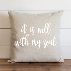 It Is Well With My Soul_White Pillow Cover. - Porter Lane Home