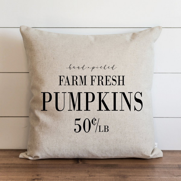 Farm Fresh Pumpkins Pillow Cover. - Porter Lane Home