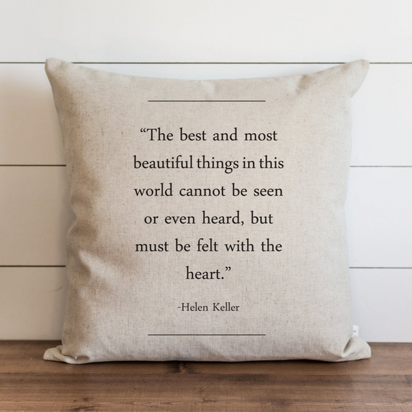 Book Collection_Helen Keller Pillow Cover. - Porter Lane Home