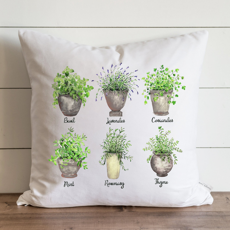 Herb Pots Pillow Cover. - Porter Lane Home