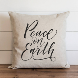 Peace On Earth Pillow Cover. - Porter Lane Home