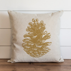 Pine Cone_Gold Pillow Cover. - Porter Lane Home