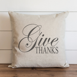 Give Thanks Pillow Cover. - Porter Lane Home