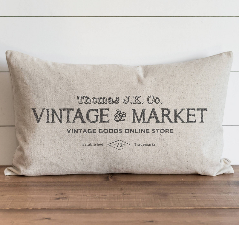 Vintage Collection_Vintage & Market Pillow Cover.