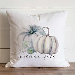 Welcome Fall Pumpkins Autumn Pillow Cover.