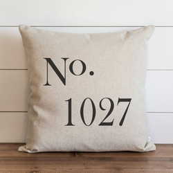 Personalized No. Pillow Cover. - Porter Lane Home
