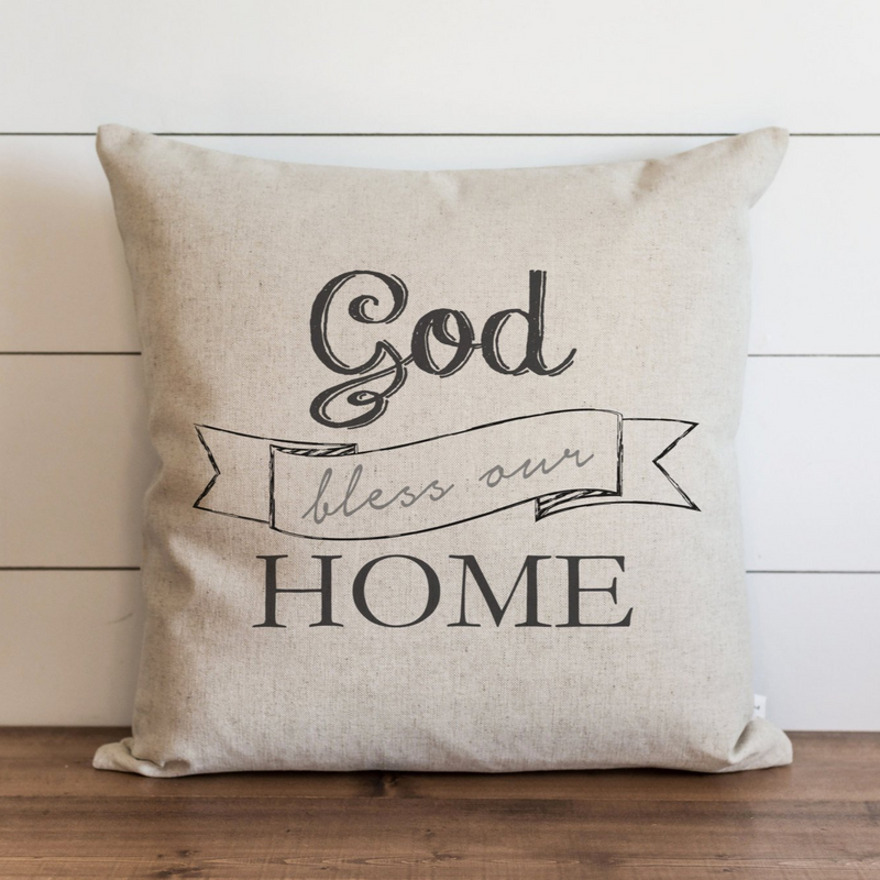 God Bless Our Home Pillow Cover. - Porter Lane Home