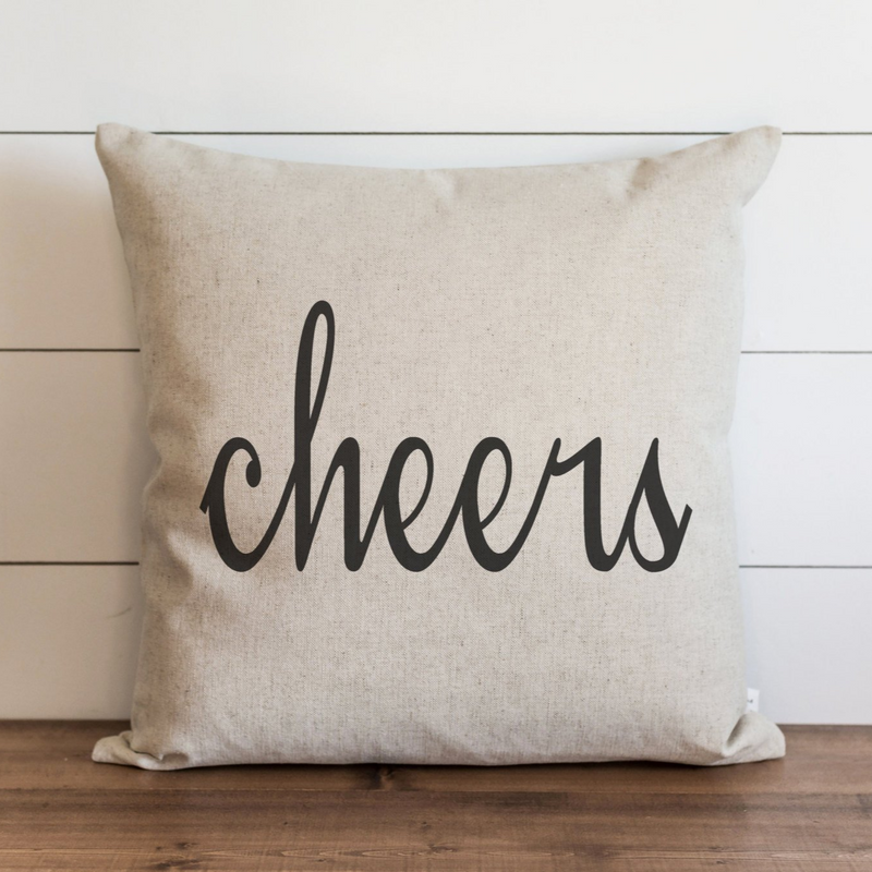 Cheers Pillow Cover. - Porter Lane Home
