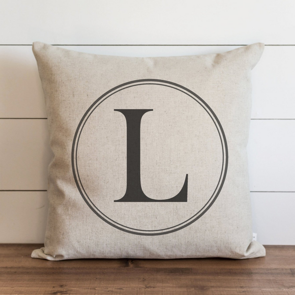 Round Monogram Pillow Cover. - Porter Lane Home