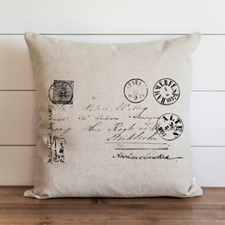 French Postage Pillow Cover. - Porter Lane Home