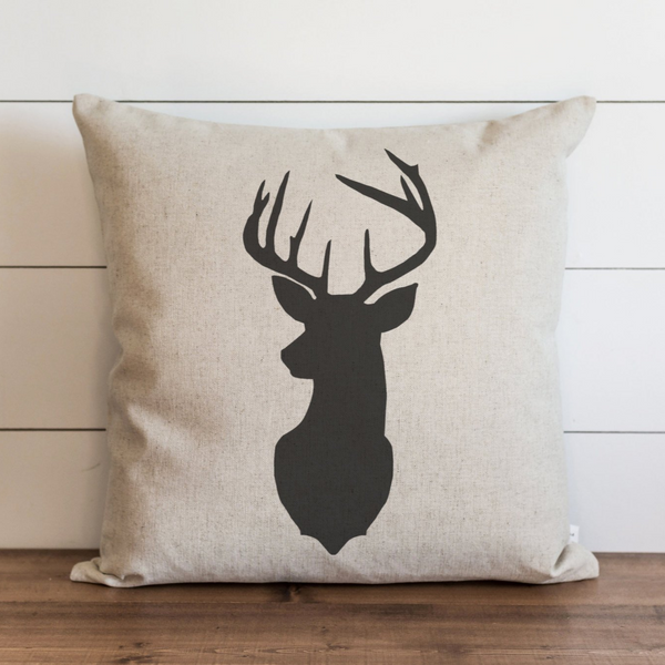 Deer Silhouette Pillow Cover. - Porter Lane Home
