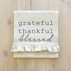 Grateful, Thankful, Blessed Table Runner - Porter Lane Home