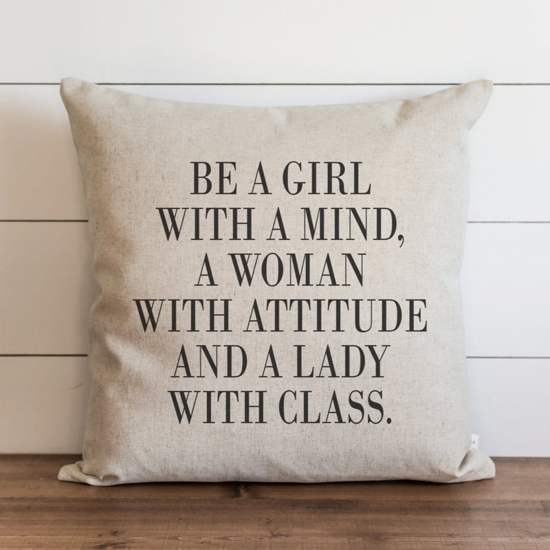 Be a Girl With a Mind Pillow Cover. - Porter Lane Home