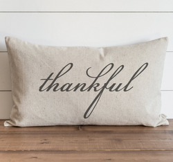 Thankful Pillow Cover {Style 1}. - Porter Lane Home