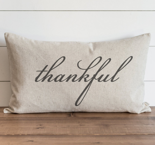 Thankful Pillow Cover {Style 1}.