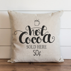 Hot Cocoa Pillow Cover. - Porter Lane Home
