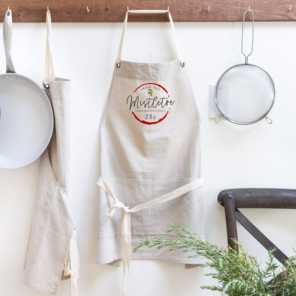 Fresh Cut Mistletoe Apron - Porter Lane Home