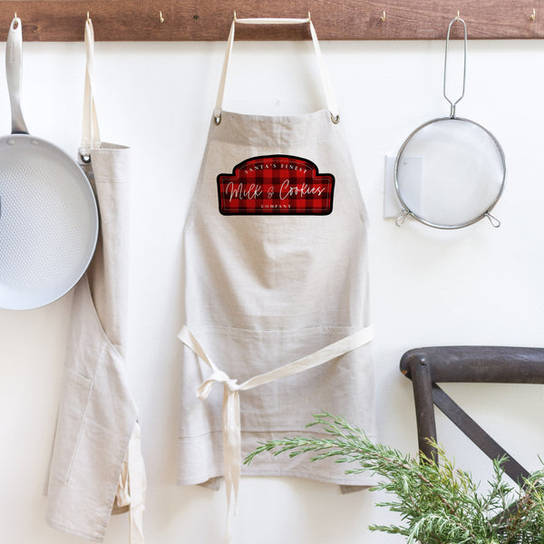Milk & Cookies Plaid Apron - Porter Lane Home