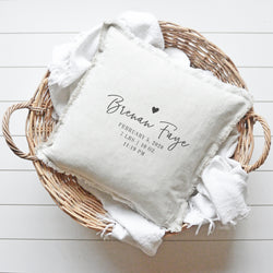 Baby Stat Fringe Pillow Cover - Porter Lane Home